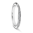 2mm Shaped Diamond Wedding Ring