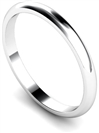 2mm D Shape Wedding Rings