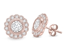Image for Round Diamond Milgrain Designer Earrings