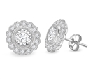Round Diamond Milgrain Designer Earrings