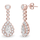 Image for Unique Pear Diamond Drop Earrings