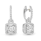 Image for Unique Princess Diamond Drop Earrings