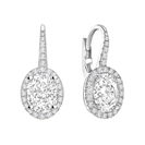 Unique Oval Diamond Drop EarringS