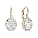 Image for Unique Oval Diamond Drop EarringS