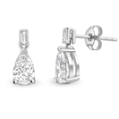 Image for Pear & Baguette Diamond Drop Earrings