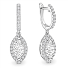 Unique Marquise Diamond Drop Earrings