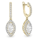 Image for Unique Marquise Diamond Drop Earrings