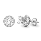 Image for Round Diamond Halo Earring Jacket