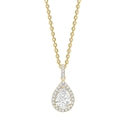 Image for Pear Diamond Single Halo Pendant