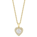 Image for Heart Diamond Single Halo Pendant