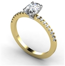 GIA CERTIFIED 0.70CT SI1/E Oval Diamond Shoulder Set Ring