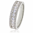 Image for 1.00CT Elegant Round Diamond Multi Row Dress Ring