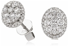 Image for Modern Round Diamond Cluster Earrings