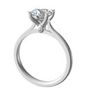 Elegant Round Diamond Engagement Ring