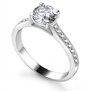 Image for Round Diamond Shoulder Set Ring