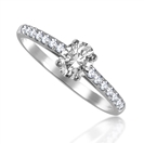 GIA CERTIFIED 0.70CT VVS1/D Oval Diamond Shoulder Set Ring