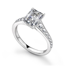 Radiant Diamond Shoulder Set Ring