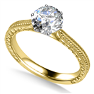 0.30CT SI2/G Round Diamond Vintage Ring