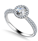 Round Diamond Single Halo Engagement Ring