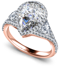 Image for Pear Diamond Split Shoulder Set Ring