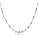 Rubover Round Diamond Tennis Necklace