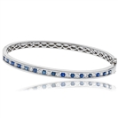 Image for Elegant Diamond & Blue Sapphire Bangle