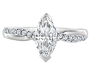 Image for Infinity Marquise & Round Diamond Engagement Ring