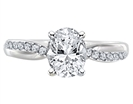 Infinity Oval & Round Diamond Engagement Ring