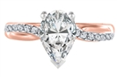 Image for Infinity Pear & Round Diamond Engagement Ring