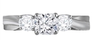 Image for 3 Stone Infinity Cushion Diamond Ring