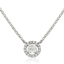 Image for Round Diamond Designer Halo Necklace