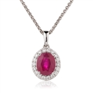 Image for Ruby & Diamond Halo Pendant