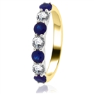 Image for 1.10CT Blue Sapphire and Diamond Eternity Ring