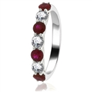 Image for 0.90CT Red Ruby and Diamond Eternity Ring