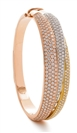 Image for Three Tone Round Diamond Set Bangle