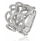 Image for 1.00CT Elegant Patterned Round Diamond Dress Ring