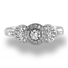 Lavish Round Diamond Vintage Ring