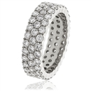 3.00CT Elegant Round Diamond Multi Row Dress Ring