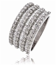 Image for 2.20CT Elegant Round Diamond Multi Row Dress Ring