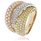 Image for 1.25CT Tri Tone Round Diamond Pave Dress Ring