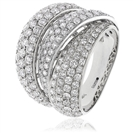 1.25CT Round Diamond Pave Dress Ring
