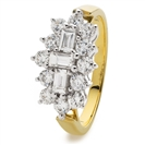 0.50CT Elegant Round & Baguette Diamond Dress Ring