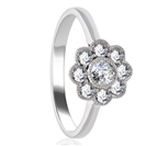 0.60CT Round Diamond Deco Cluster Ring