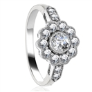 1.25CT Modern Round Diamond Designer Ring