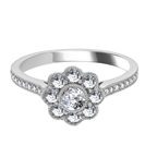 0.75CT Modern Round Diamond Designer Ring