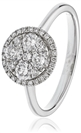 0.50CT Elegant Round Diamond Cluster Ring