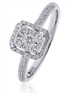 Image for 0.80CT Elegant Round Diamond Cluster Ring
