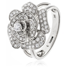 Image for 0.60CT Modern Round Diamond Pave Cocktail Ring