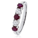 0.85CT Red Ruby and Diamond Eternity Ring