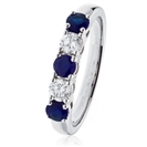 1.20CT VS/EF Blue Sapphire & Diamond Eternity Ring